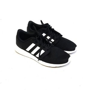 ADIDAS Cloadfoam Womens Black & White Sneakers 8